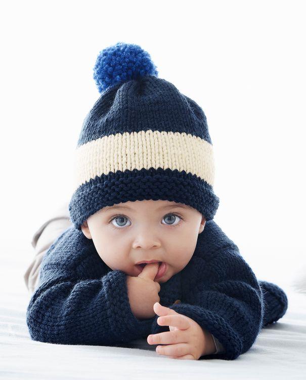 Tricot bébé bonnet
