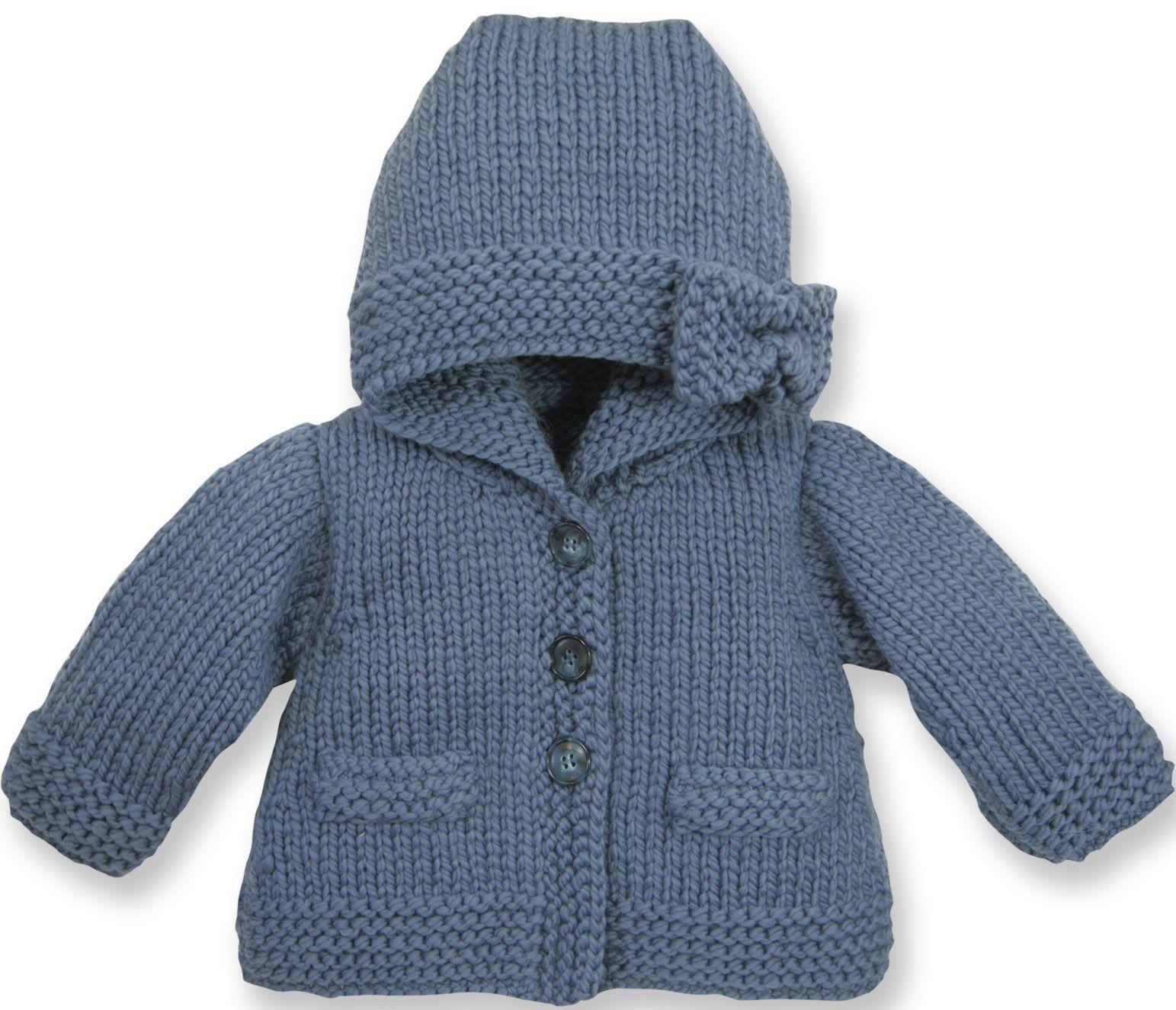 Tricot facile veste bebe
