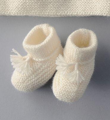 Tricot chausson bébé