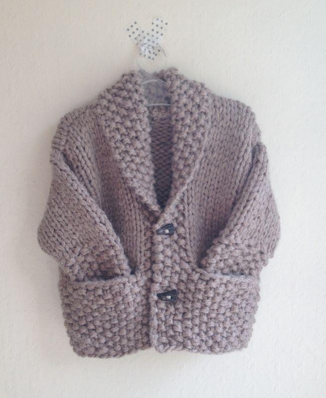 Tricot bébé grosse laine