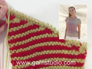 Tricot rayures point mousse