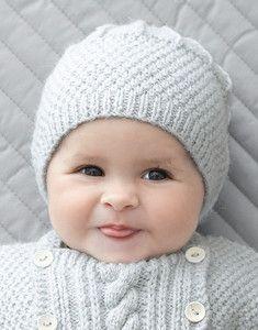 Tricot bonnet bébé