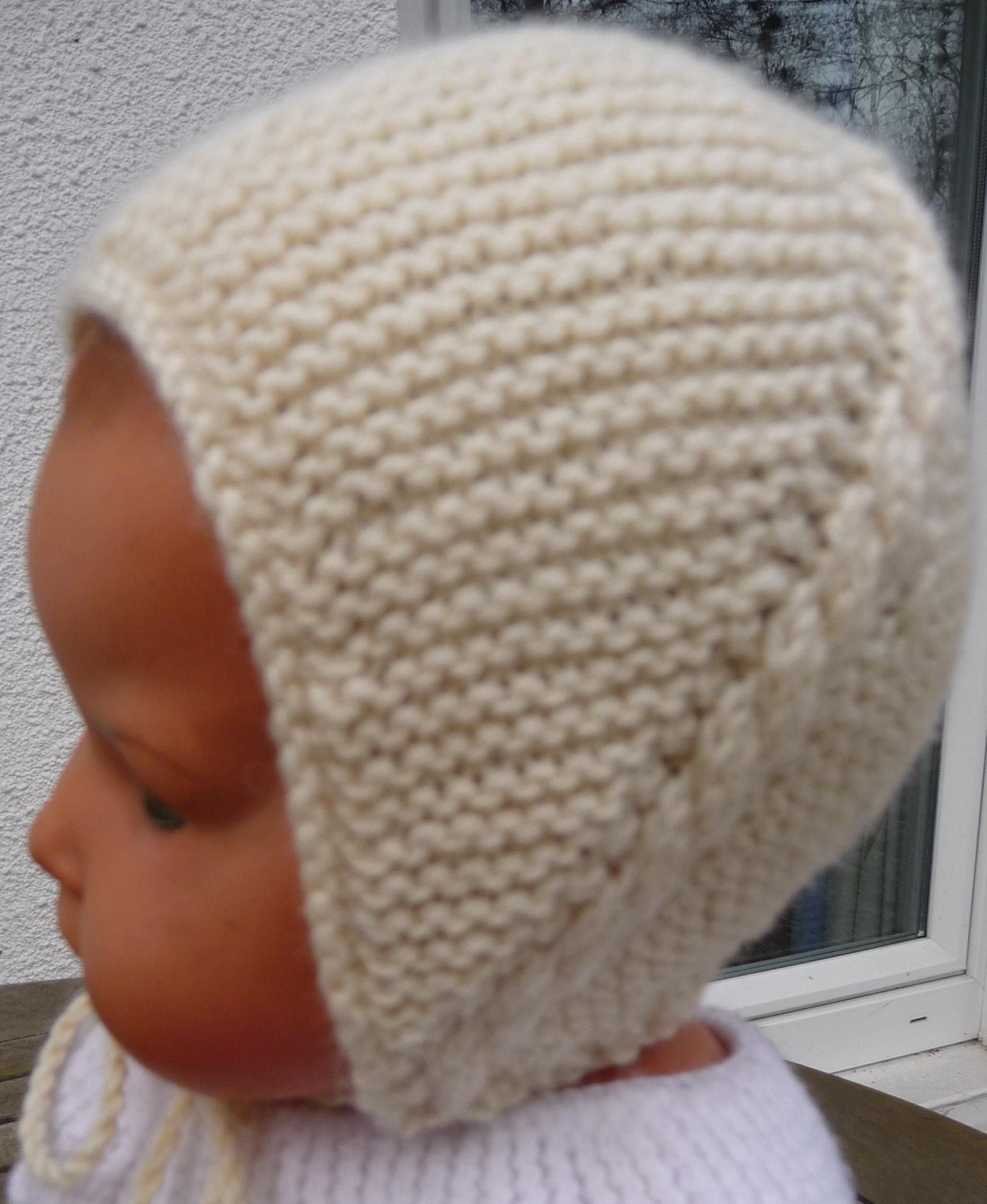 Tricot facile bonnet nouveau né