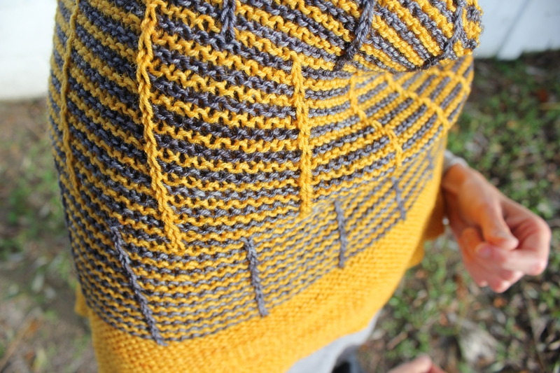 Tricoter echarpe rayures verticales