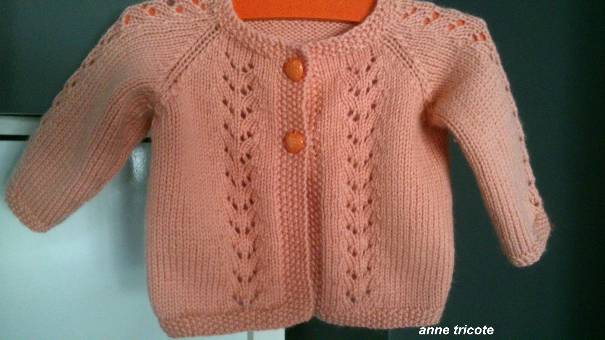 Tricoter gilet fille