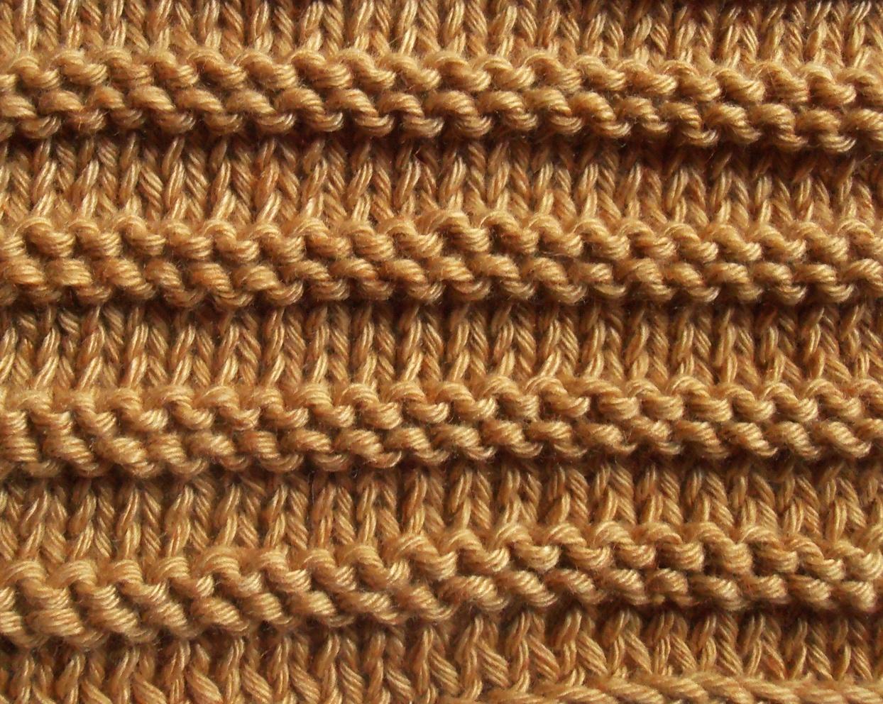 Tricoter jersey endroit