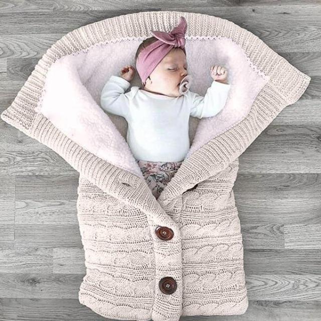 Tricot enveloppe bebe
