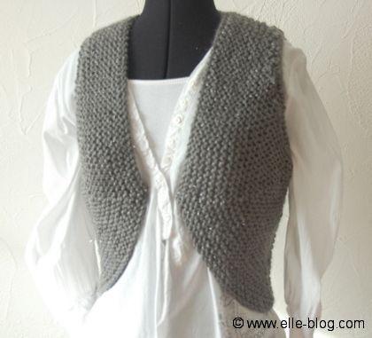 Bolero tricot facile femme