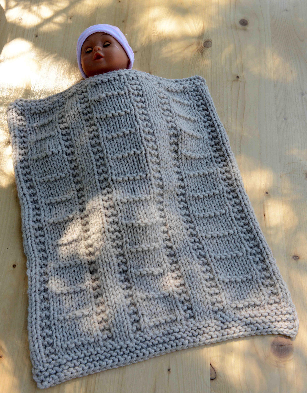 Tricot couverture bébé débutant