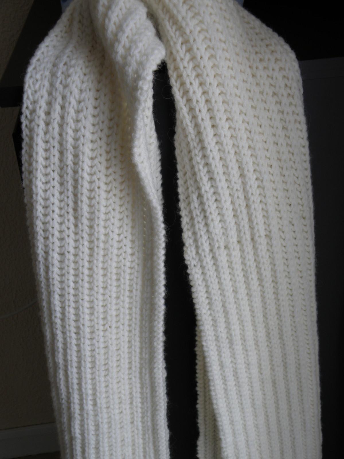 Tricoter facile une echarpe