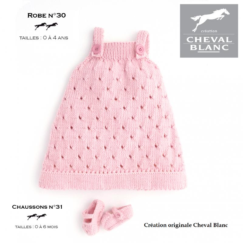 Tricot robe bébé