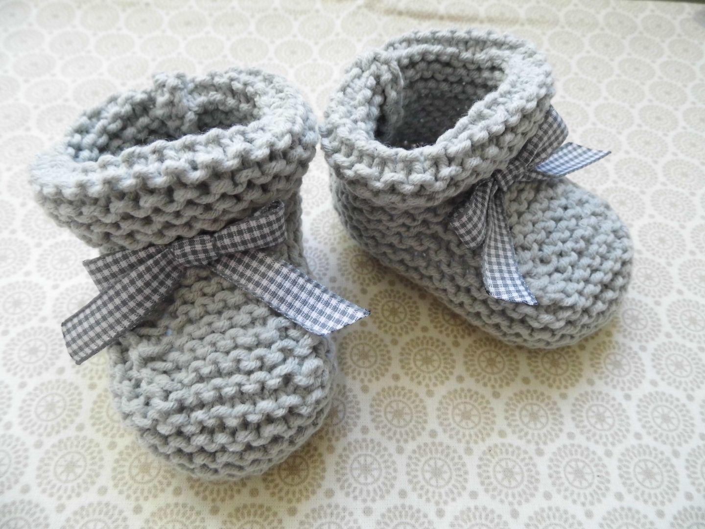 Tricot facile bébé chausson