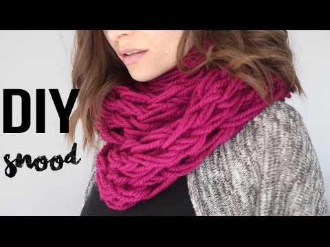Tricot facile echarpe video