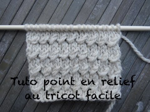 Point tricot relief facile