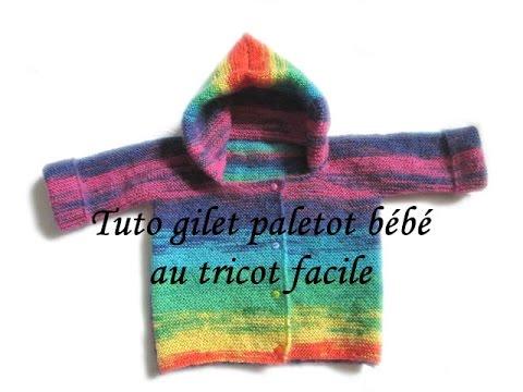 Tricoter gilet bebe avec capuche
