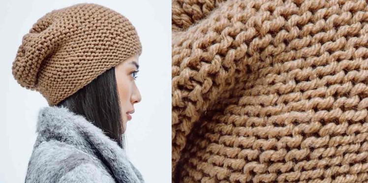 Tricot bonnet facile tuto