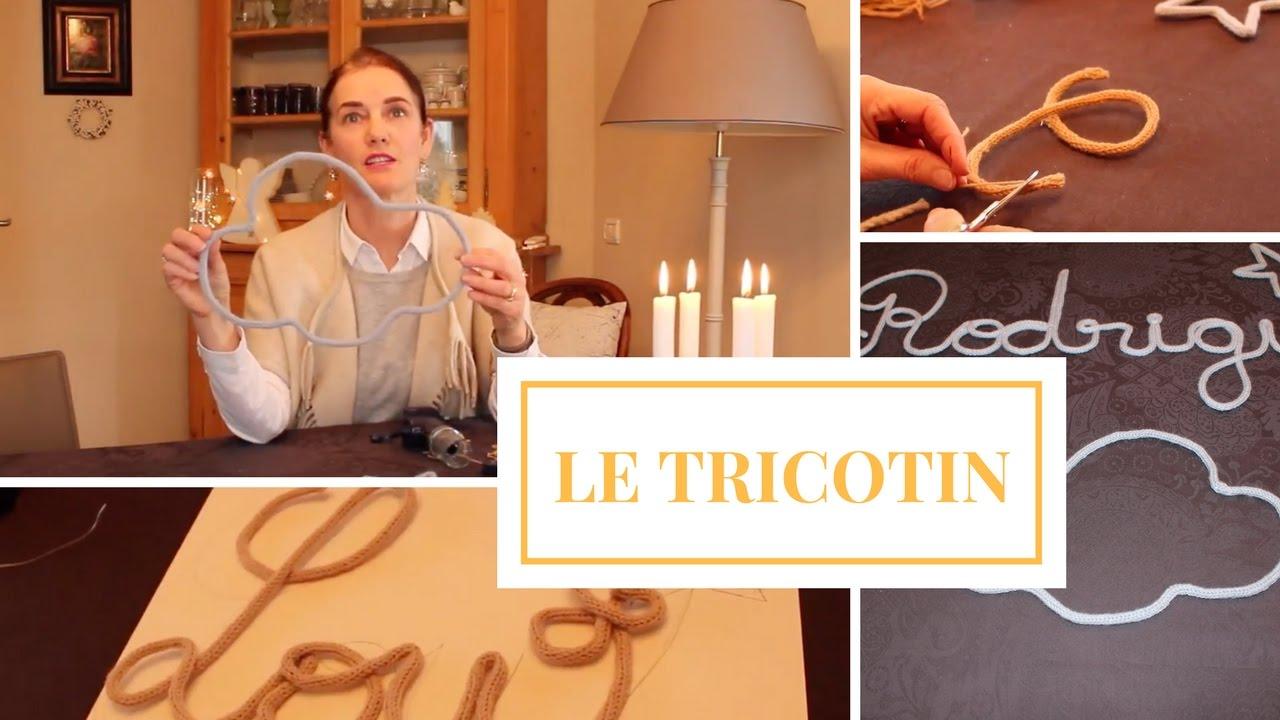 Tricotin prenom diy