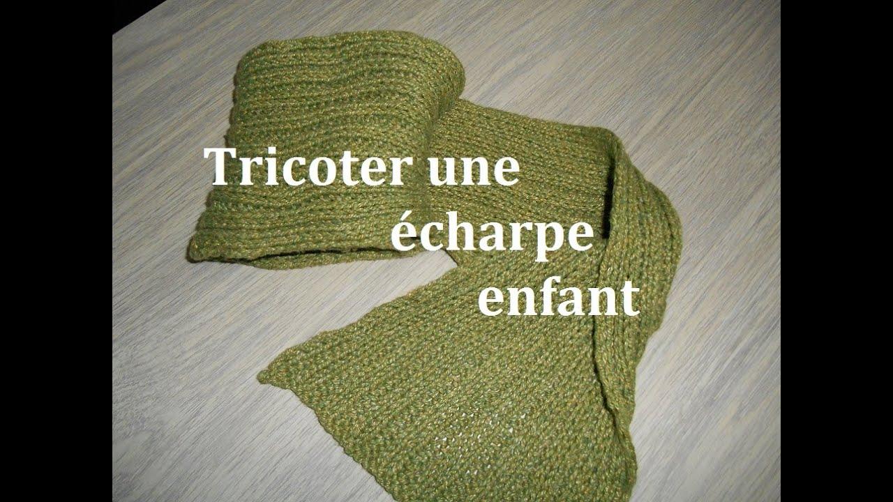 Tricoter echarpe bebe debutant