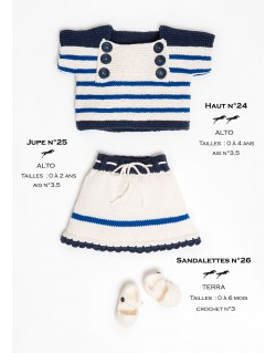 Tricot jupe fille
