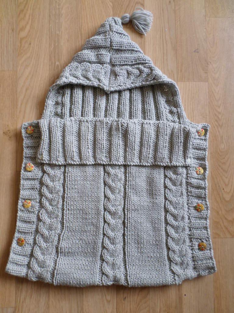 Tricoter nid d ange bebe
