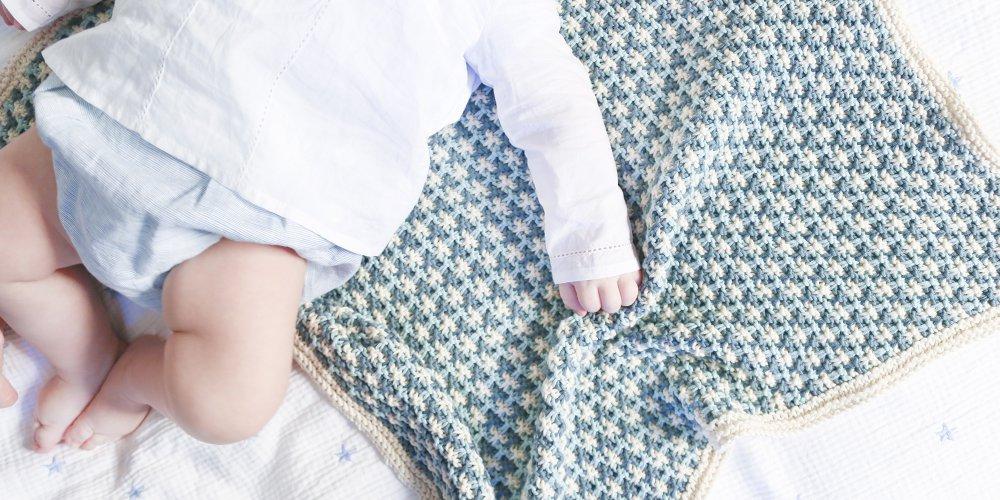 Tricot facile bébé couverture