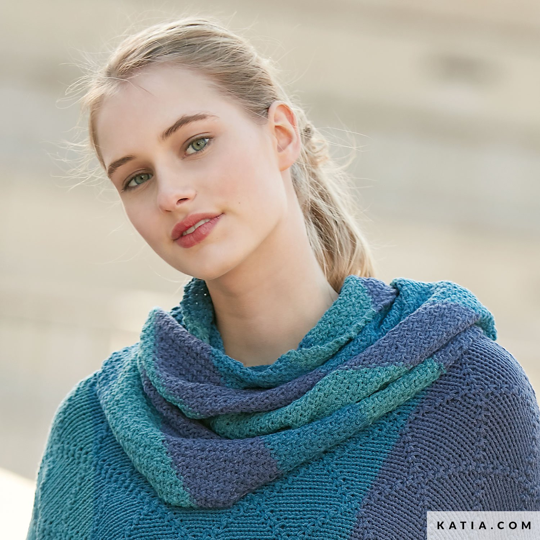 Tricot foulard rayé