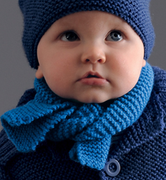 Tricot bébé echarpe