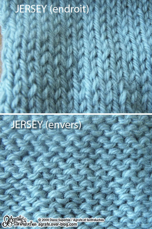 Tricot maille endroit