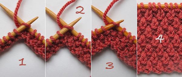 Tricoter le point de blé - Diapo rama